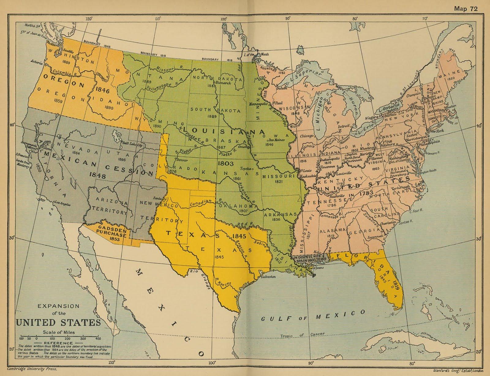 Manifest Destiny Lessons Tes Teach - Us manifest destiny map