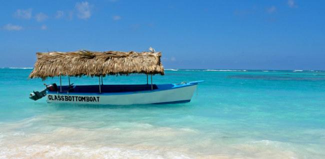 dominican republic punta cana glass bottom boat
