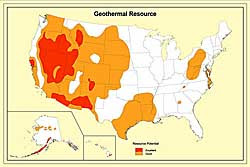 US Geothermal Energy Map