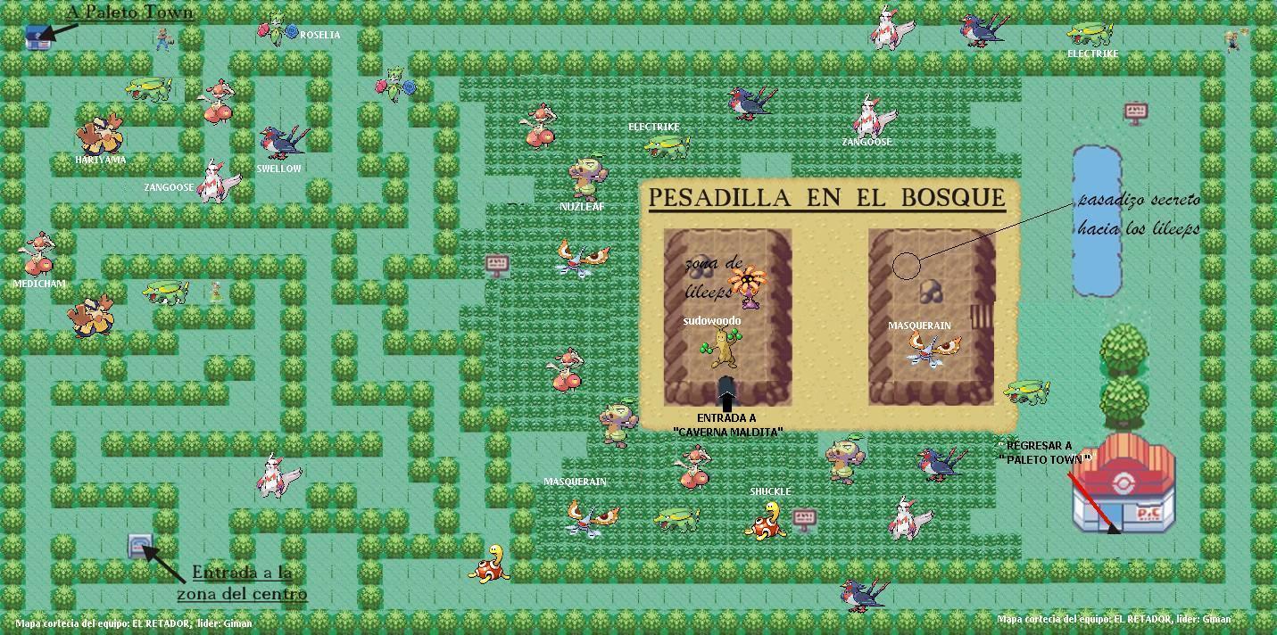 mapas de pokemon negro Pesadilla%2BBosque