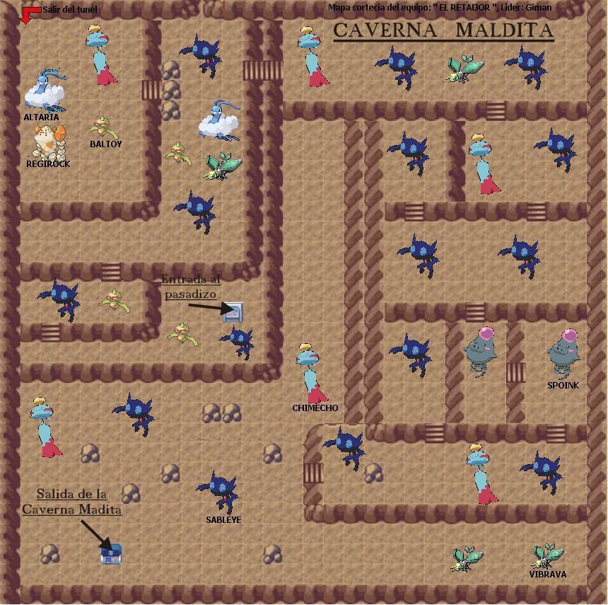 mapas de pokemon negro Cavernamaldita
