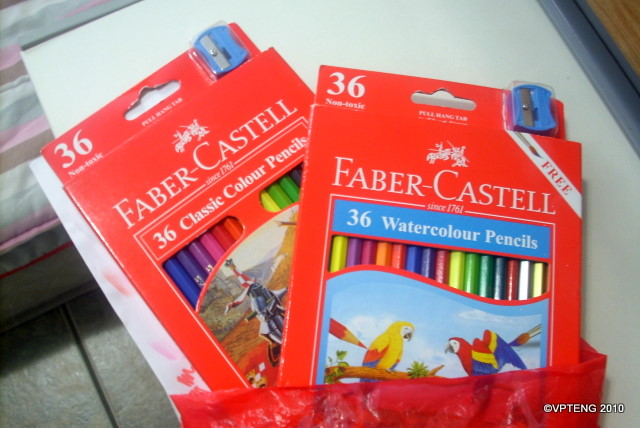 Drawing with my special hand: Faber Castell Colored Pencils