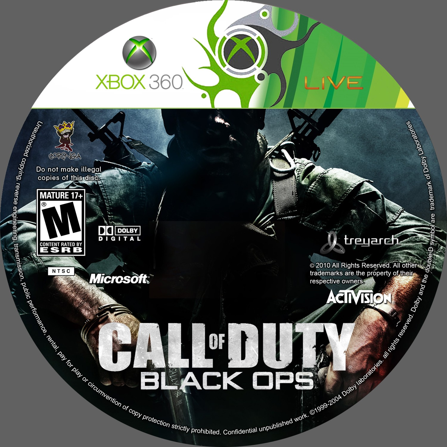 label call of duty black ops xbox 360 gamecover capas
