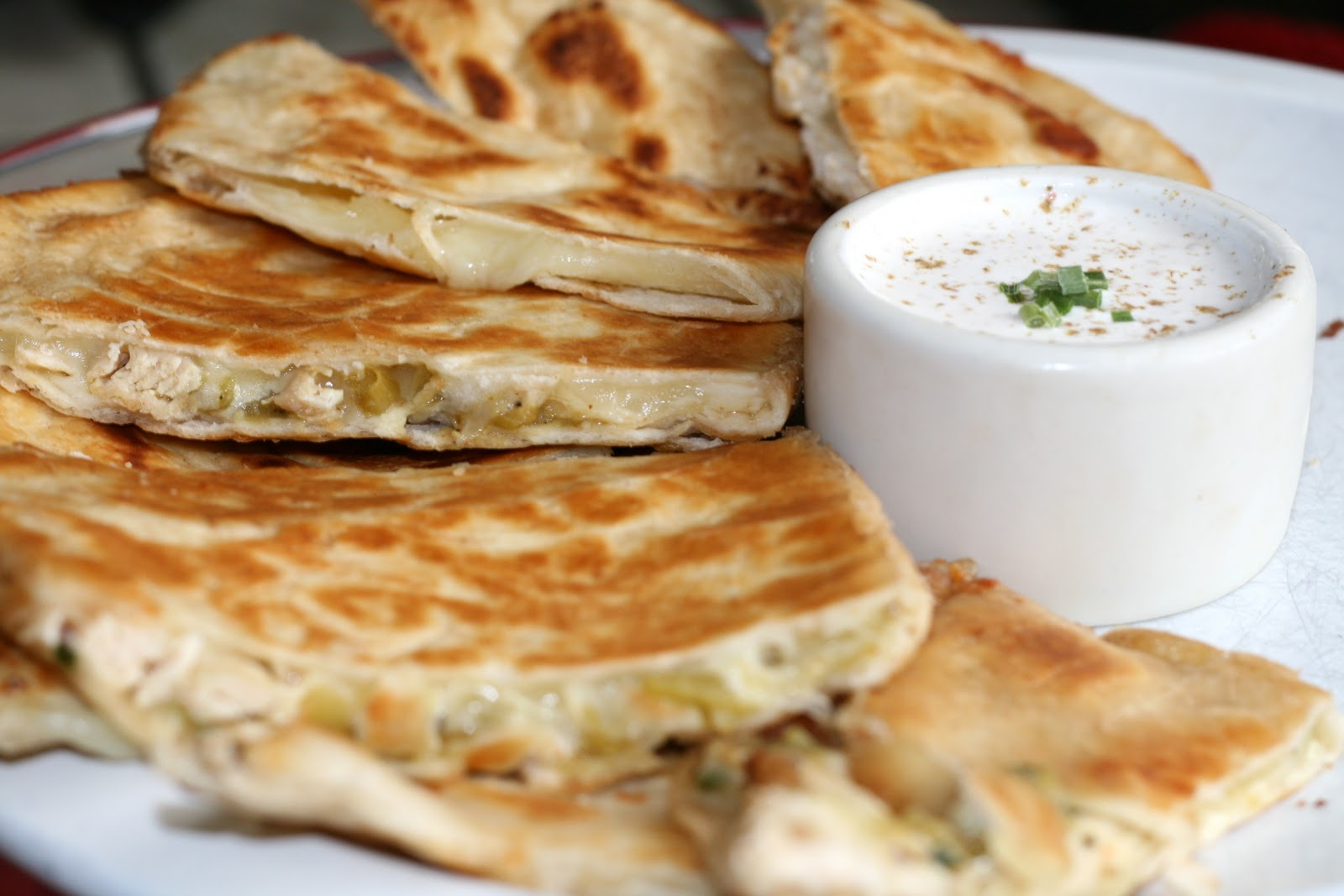 Making Quesadillas are pretty straight forward, but here's what I did: