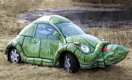 Kodok menjadi Kura-Kura, mobil aneh, gambar mobil lucu