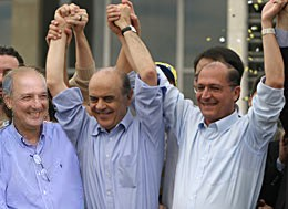 josé Serra,José Roberto Arruda e geraldo Alckmin