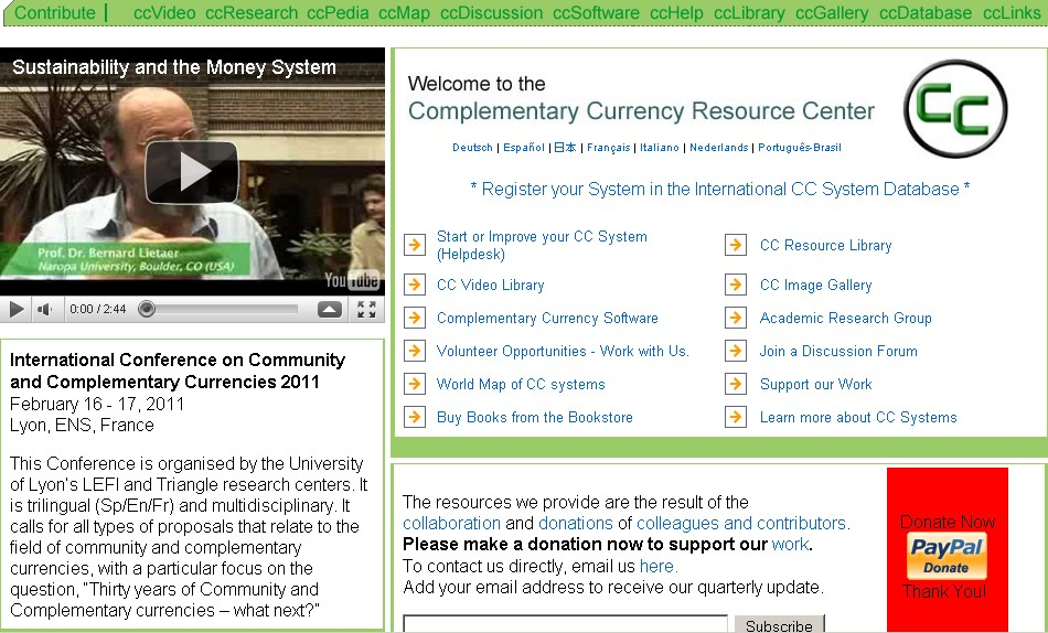 ComplementaryCurrency.org