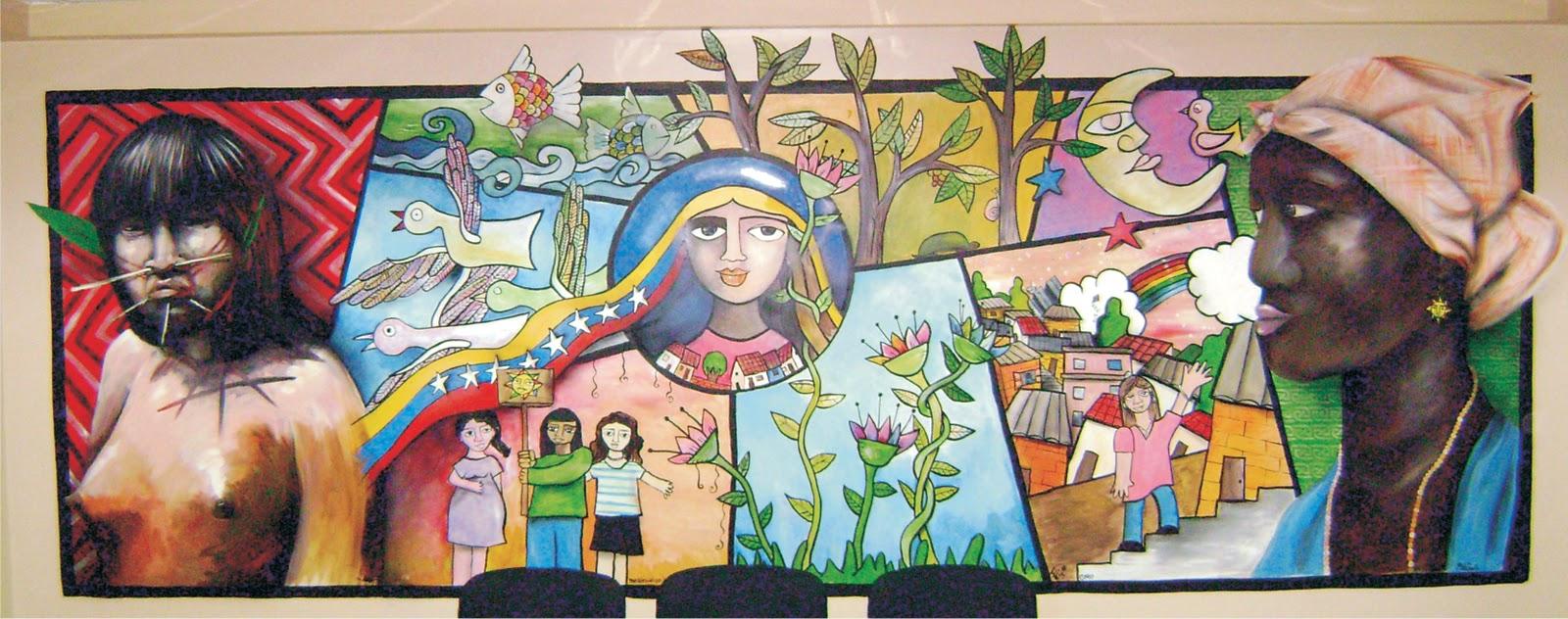 Mural Banco de la Mujer (Recepción)