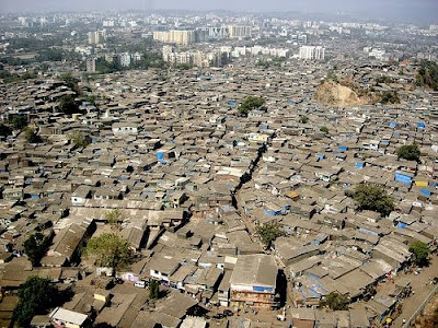 Dharavi in Mumbai, India