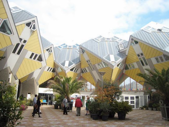 Cubic houses. Rotterdam, Netherlands