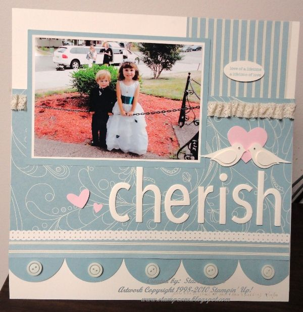 I am on a roll scrapbooking lately I have to say I love the way this page