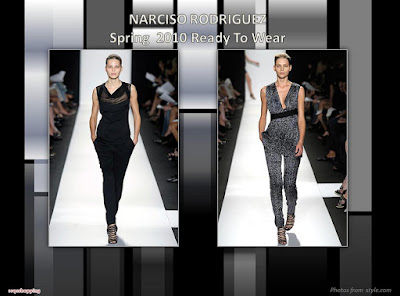 Narciso Rodriguez Spring 2010 Ready To Wear pants