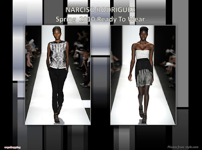 Narciso Rodriguez Spring 2010 Ready To Wear strapless dress and pants