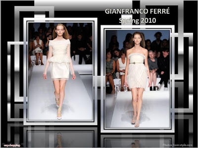 Gianfranco Ferre Spring 2010 Ready To Wear white dresses