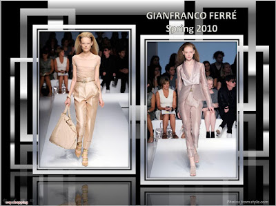 Gianfranco Ferre Spring 2010 Ready To Wear pant suit