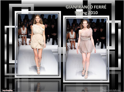 Gianfranco Ferre Spring 2010 Ready To Wear whie and nude dresses