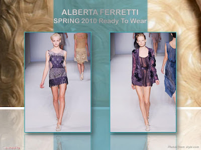 Alberta Ferretti Spring 2010 Ready To Wear chiffon dress