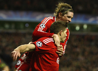 Torres and Steven Gerrard