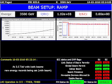 LHC Beam Test 3.5 TeV Success