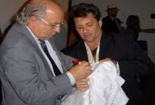 Piassa e o ministro dos Direitos Humanos Paulo Vannuchi.