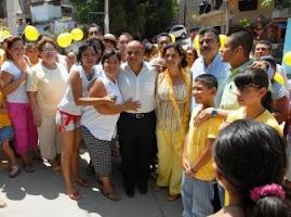 INAUGURACION DE PAVIMENTACION DE CALLE EN LA COLONIA CUMBRES DE FIGUEROA