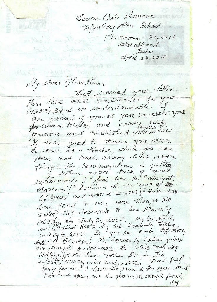 lo edwards former wynberg allen school s headmaster writes to his  lo edwards former wynberg allen school s headmaster writes to his student in sikkim
