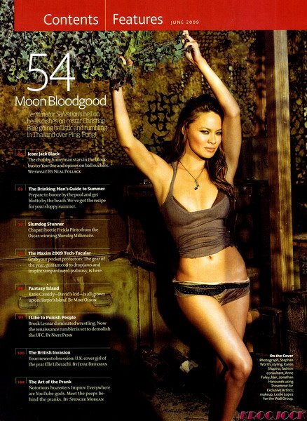 Moon Bloodgood Maxim June 2009 ...