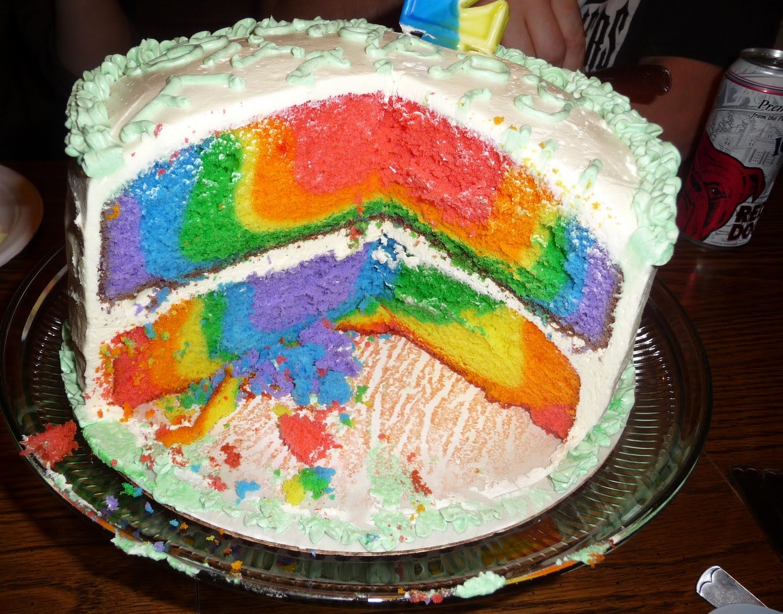 Rainbow Cake | Rainbow Cake Recipe | Rainbow Cake Tutorial 2012 - The ...
