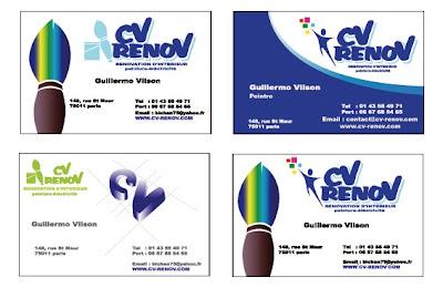 Creation Et Proposition De Modeles Cartes Visites Pour La Societe CV RENOV Specialise Dans Peinture Renovation Dinterieur