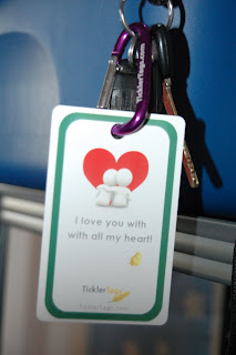 love you tickler tag on keychain