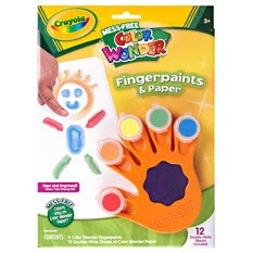 crayola color wonder fingerpaints