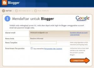 tahap pertama bikin blog