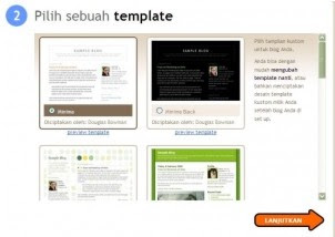pilih template blogger