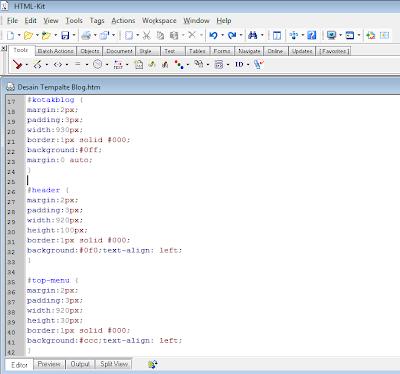 cara mengatur CSS top menu