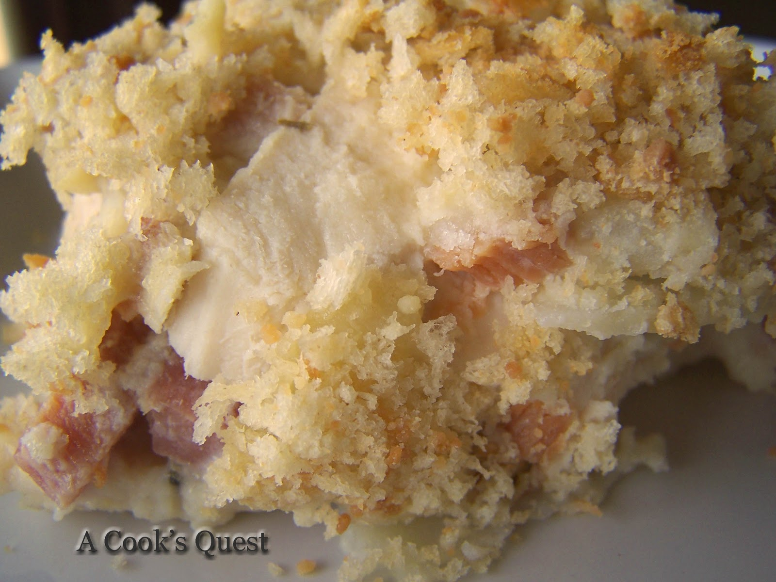 Cook's Quest: Chicken Cordon Bleu Casserole