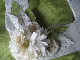 a simple vintage wreath
