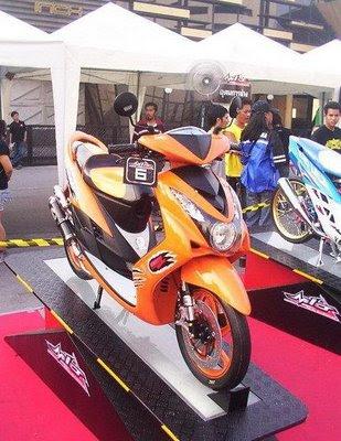 Orange Yamaha Mio Modifikasi