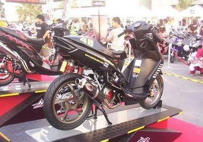Black Extreme Yamaha Mio Modification