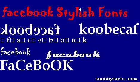Fonts stylish for facebook images