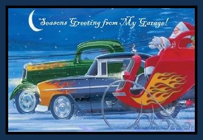 Free Christmas Cards: Hot Rod Christmas Cards