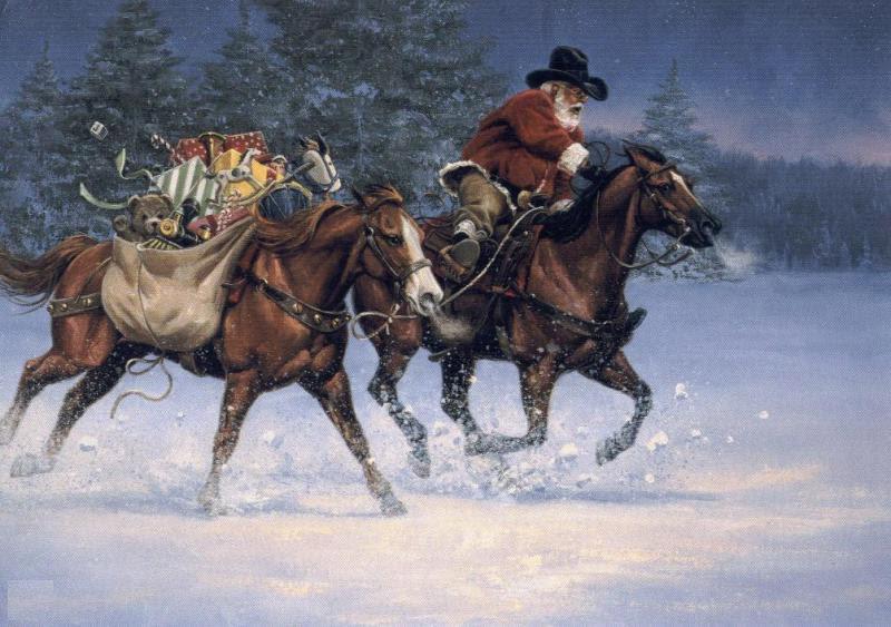 Free Christmas Cards: Cowboy Christmas Cards