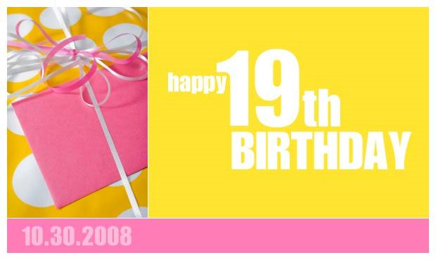 Birthday Cards 19th Birthday Cards Nineteenth Birthday Wishes