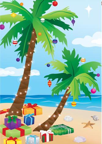 Tropical Christmas Cards, Tropical Christmas Wishes