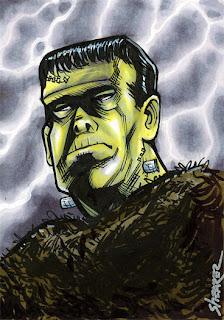 Halloween Frankenstein Cards