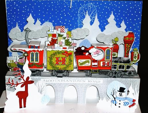 free christmas cards  merry christmas train card  xmas