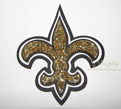 Saints Fleur De Lis http://debsdoodlesnthings.blogspot.com/2010/01/day-3-saints-ornament-sparkly-fleur-de.html