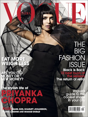 Vogue brings Priyanka Chopra this month