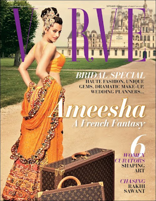 Ameesha Patel on cover of Verve this September