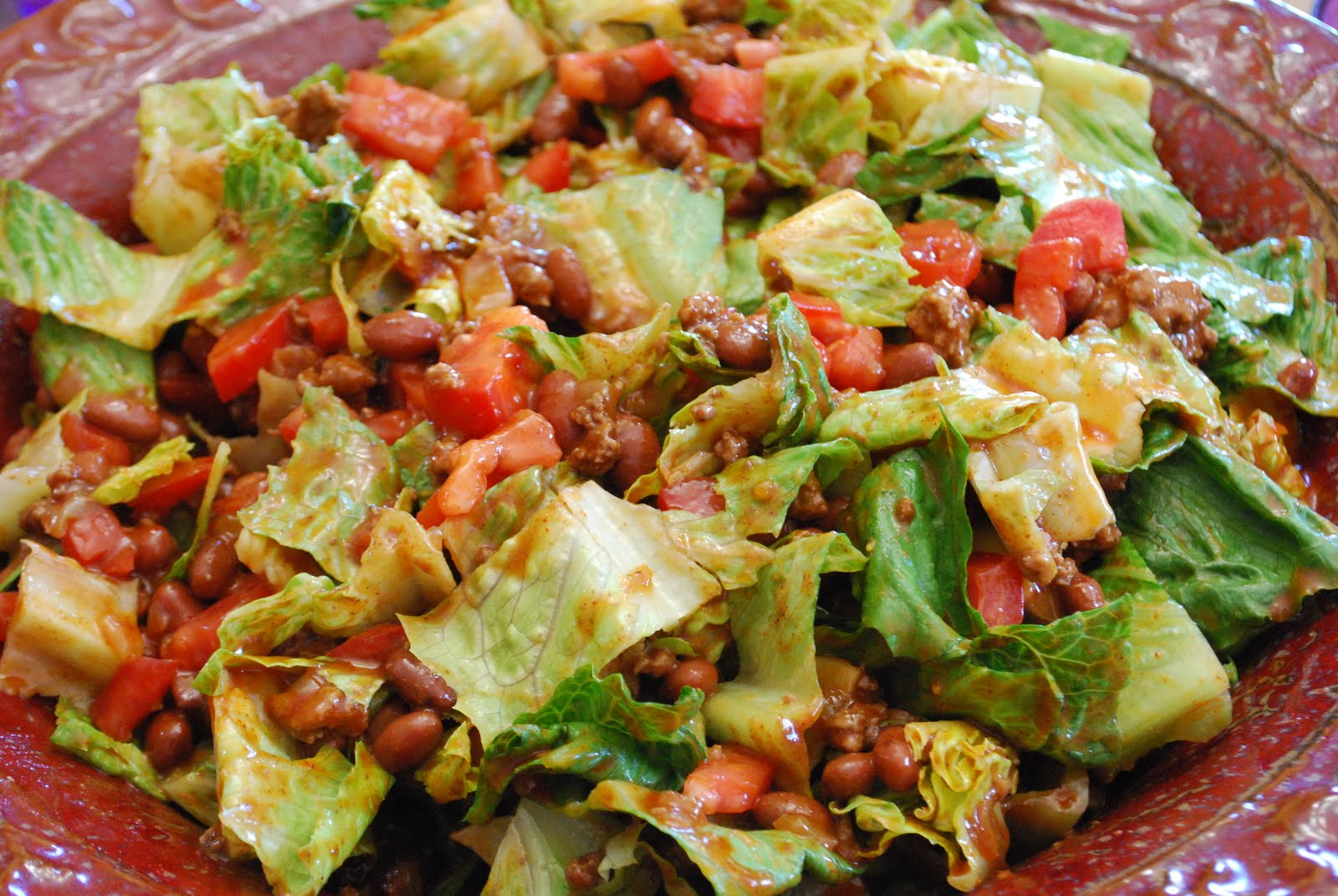 Taco Salad: serves 8 ( 6 points +)