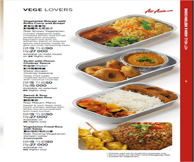 All about veggie inflight meal air asia budget airline for Airasia japanese cuisine